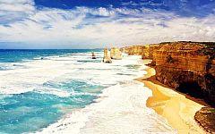 【海豚与海:直升机+山顶牛排+豪艇下午茶+杰维斯海豚湾】澳新杰12天